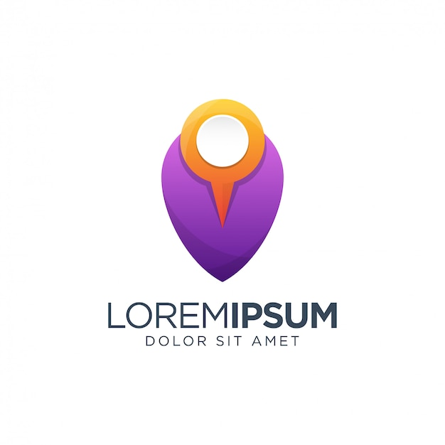 Place logo template Premium Vector