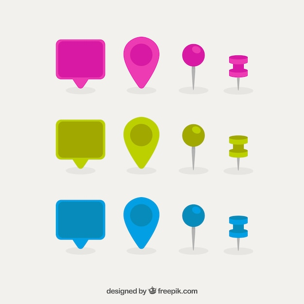 Placeholder and speech bubble collection Premium Vector