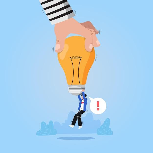 電球と盗作の概念 無料ベクター