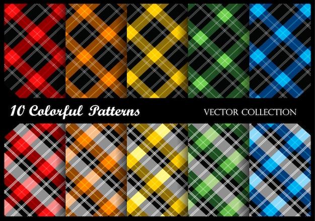 Plaid patterns Premium Vector