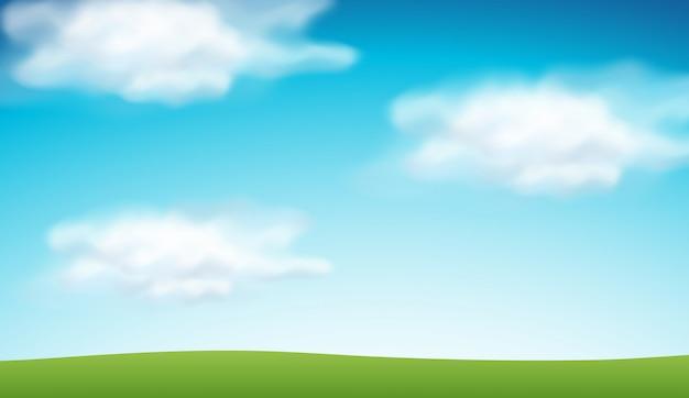Plain blue sky background Free Vector
