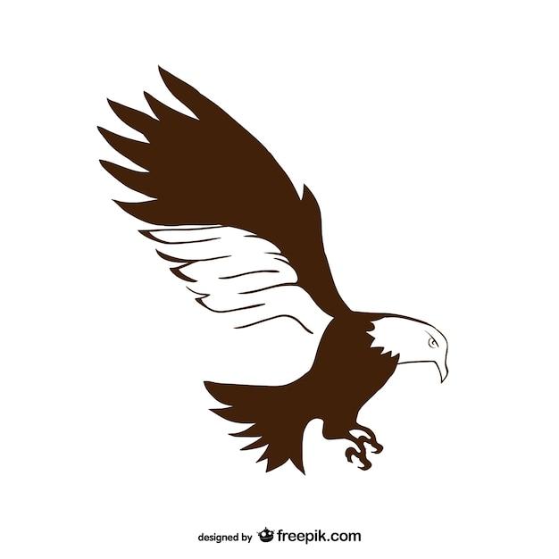 Plain hand drawn eagle vector Vector | Free Download