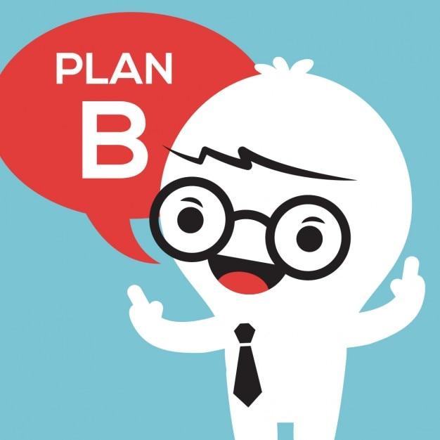 Plan B, Cartoon Style Vector
