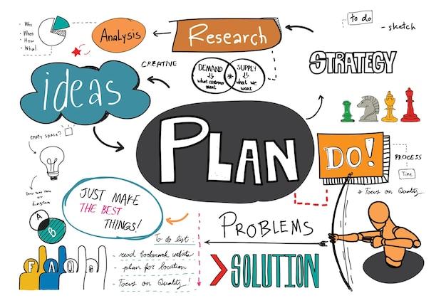 Plan sketch Free Vector