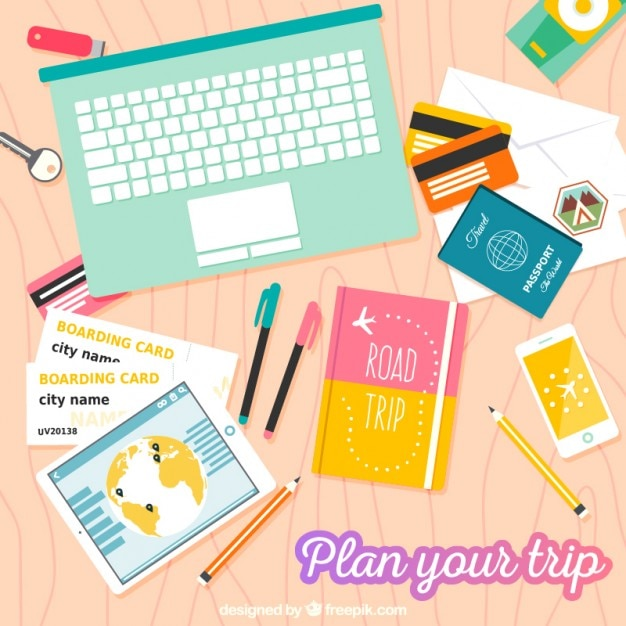 Plan your trip Premium Vector