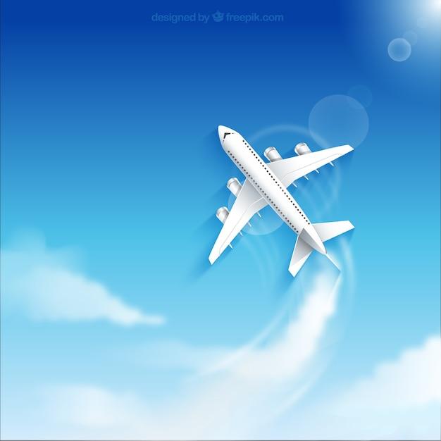 Plane flying Free Vector