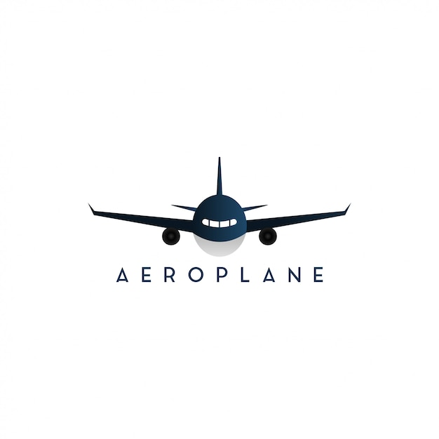 Plane Front Side Graphic Design Template Isolated Premium Vector