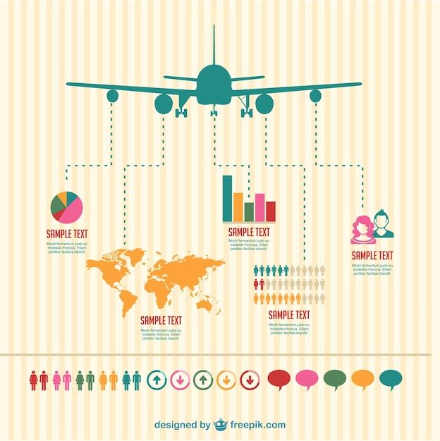 Plane infographic Free Vector