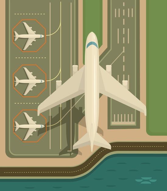 Plane is taking-off. Premium Vector