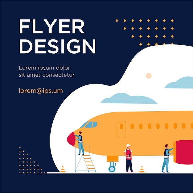 Plane service isolated flat Free Vector