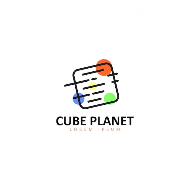 Planet logo Premium Vector