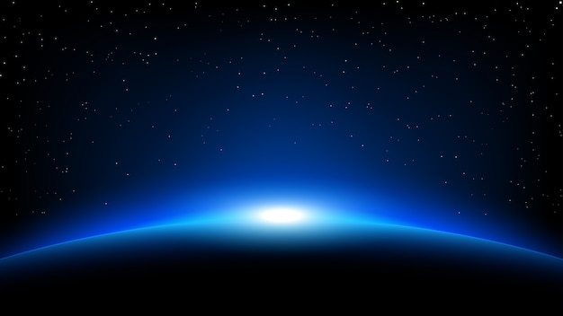 Planet space background Premium Vector