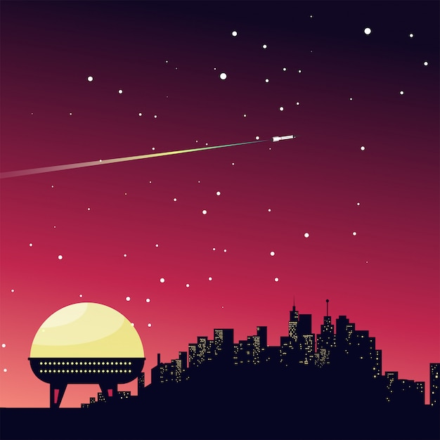 The planetary society Premium Vector