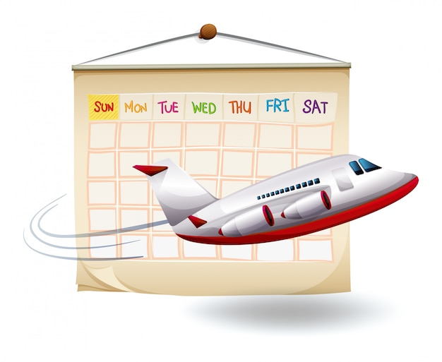 A planned holiday trip Free Vector