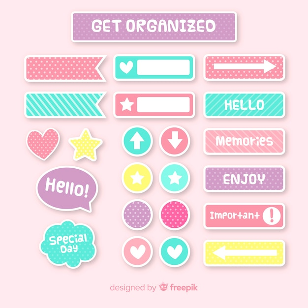 Planning elements pack Free Vector