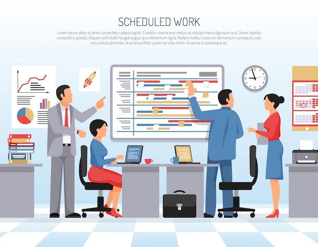 Planning flat illustration Free Vector