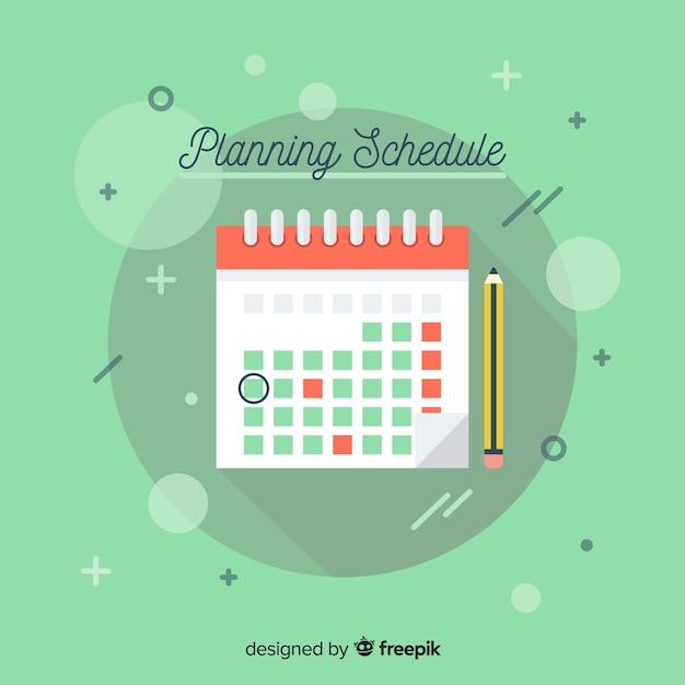 Planning schedule template Free Vector