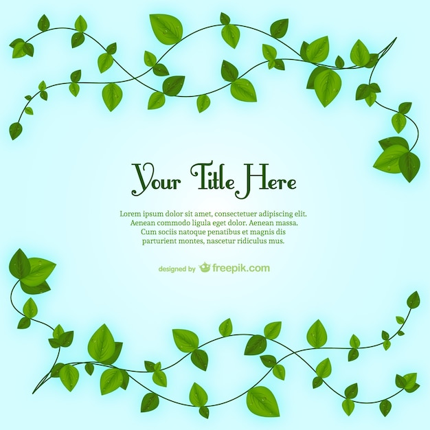 plant leaves template vector free download