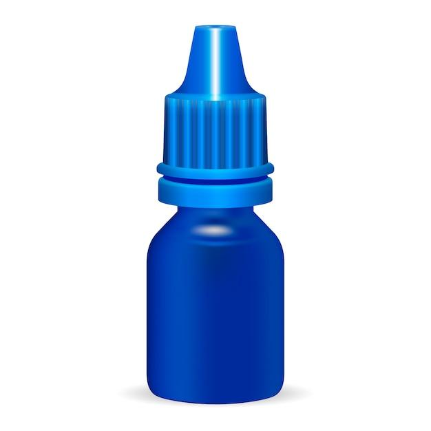 플라스틱 병 템플릿 의료 화장품 유체 프리미엄 벡터