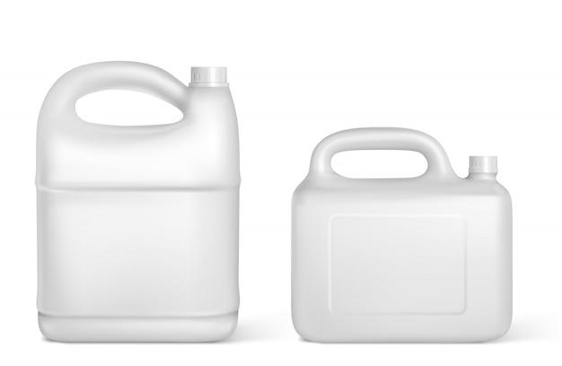 プラスチック容器、白いジェリカン絶縁ボトル 無料ベクター