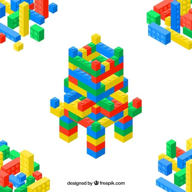 Plastic castle parts background