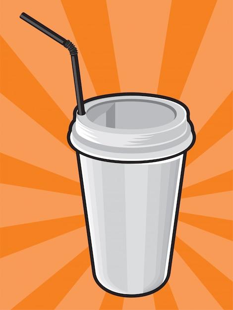 Plastic coffee cup Premium Vector