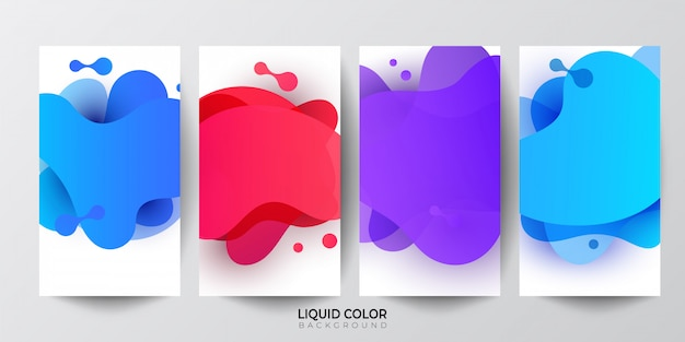 Plastic liquid gradient waves sale banner template Premium Vector
