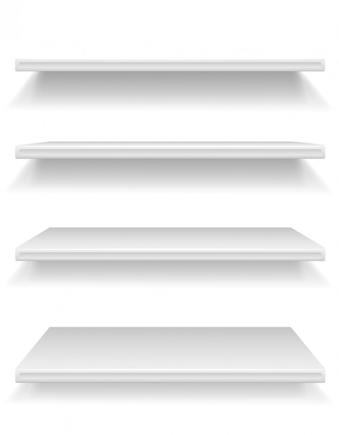 Plastic shelf vector illustration Premium Vector