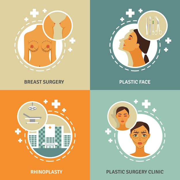 Plastic surgery concept banner Free Vector