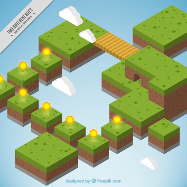 Platform background in isometric style Free Vector