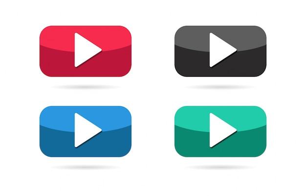 Play button icon. Premium Vector