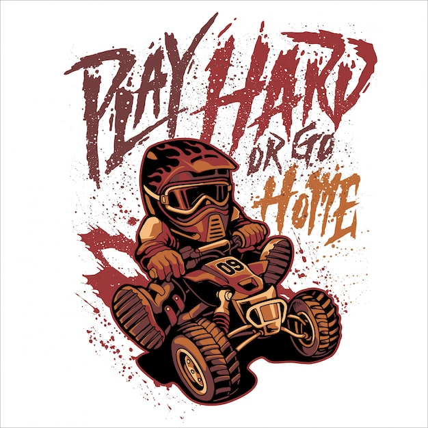 Play hard or go home Premium Vector