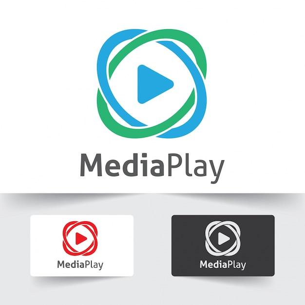 Play icon logotype Premium Vector
