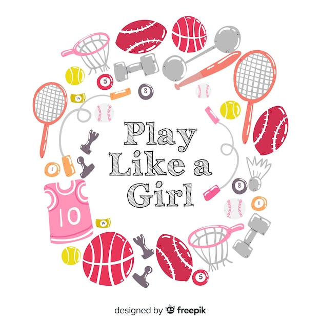 Play like a girl Free Vector