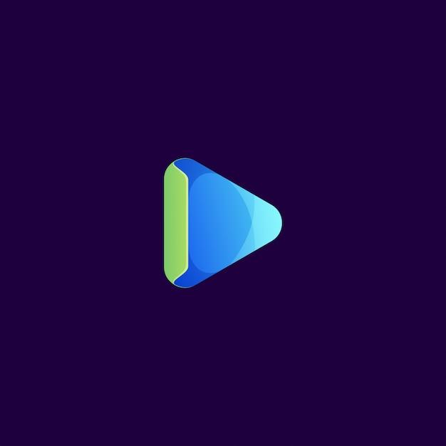 Play logo Premium Vector