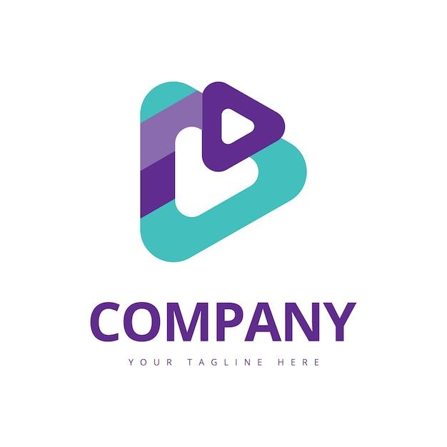 Play media logo Premium Vector
