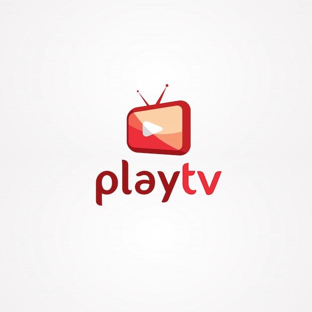 Play tv logo Vector   Premium Download