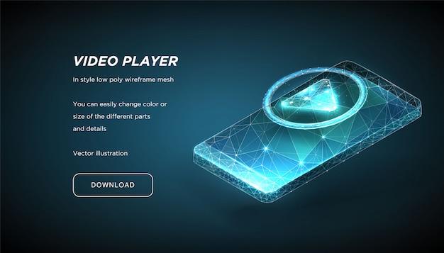 Значок игрока и смартфон Premium векторы
