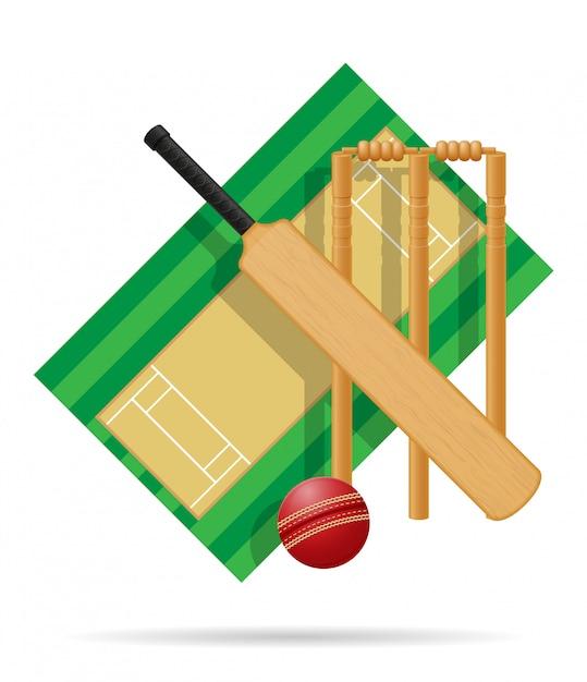 Playground for cricket vector illustration Premium Vector