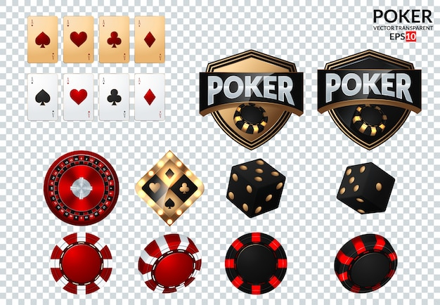 Playing cards and poker chips fly casino. Premium Vector