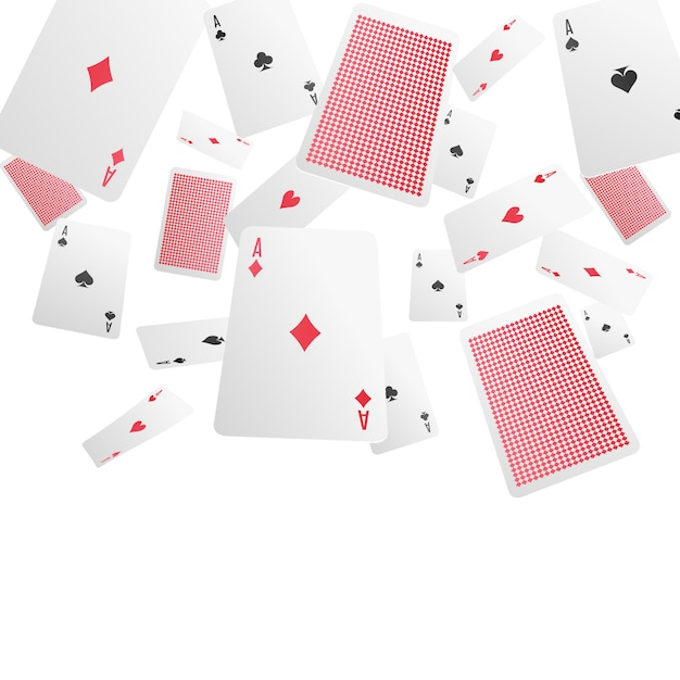 Playing cards realistic Free Vector