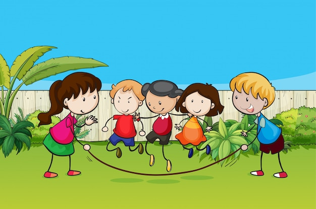 Playing kids Free Vector