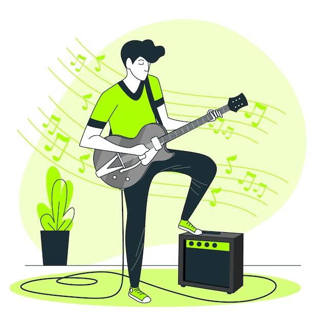 Playing music concept illustration Free Vector