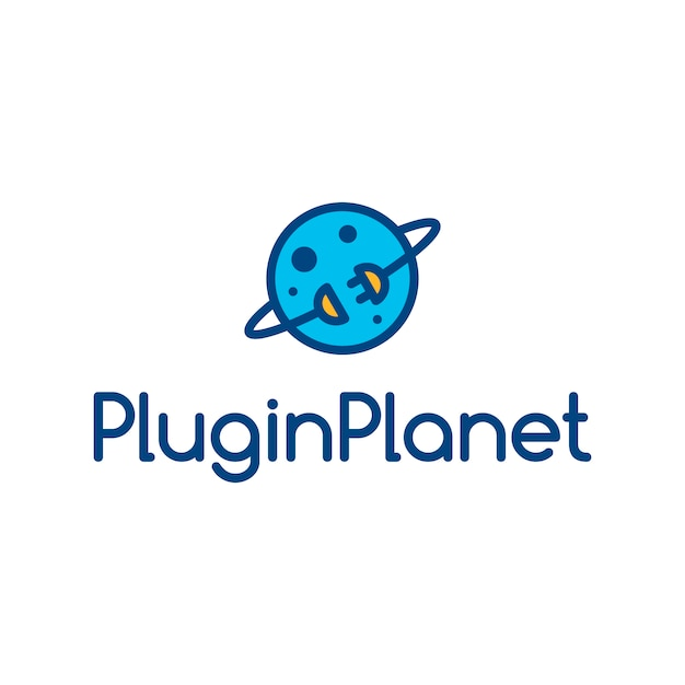Plugin planet logo Premium Vector