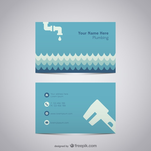 Plumber business card vector free download plumber business card free vector reheart Images