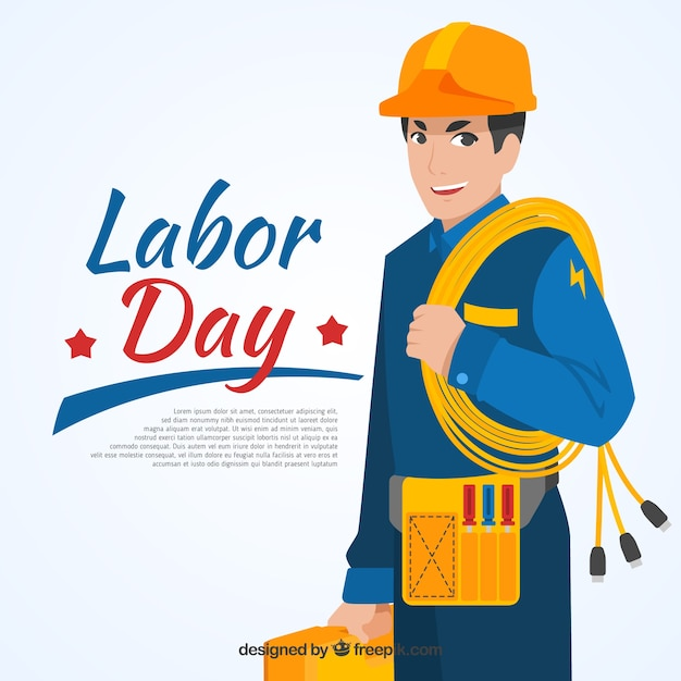 Plumber labor day background Free Vector