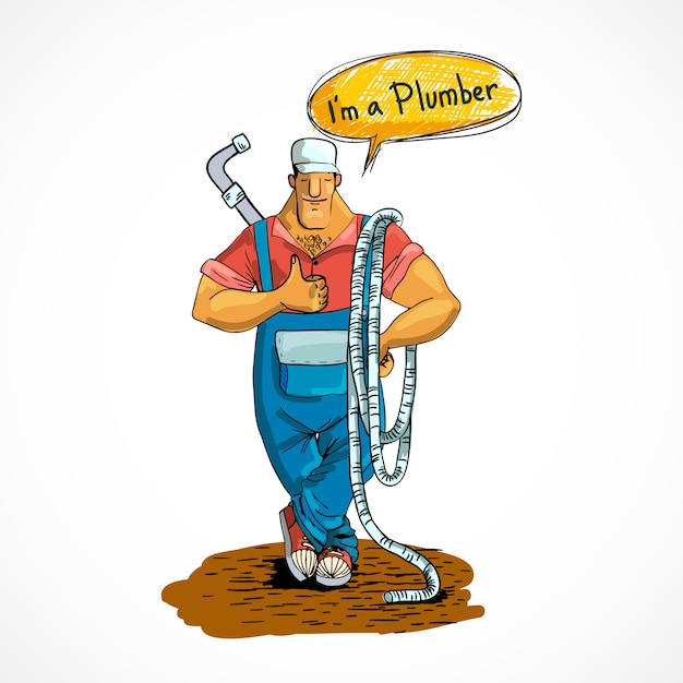 配水管とホースで配管 Premiumベクター