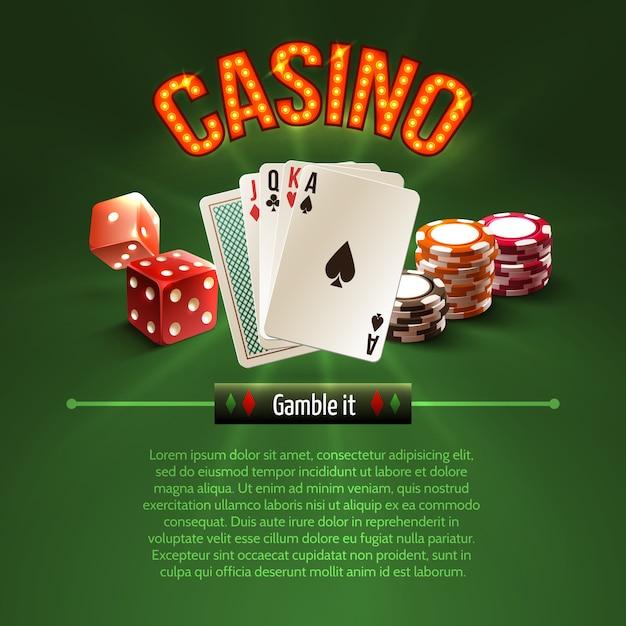 Pocker casino background Free Vector
