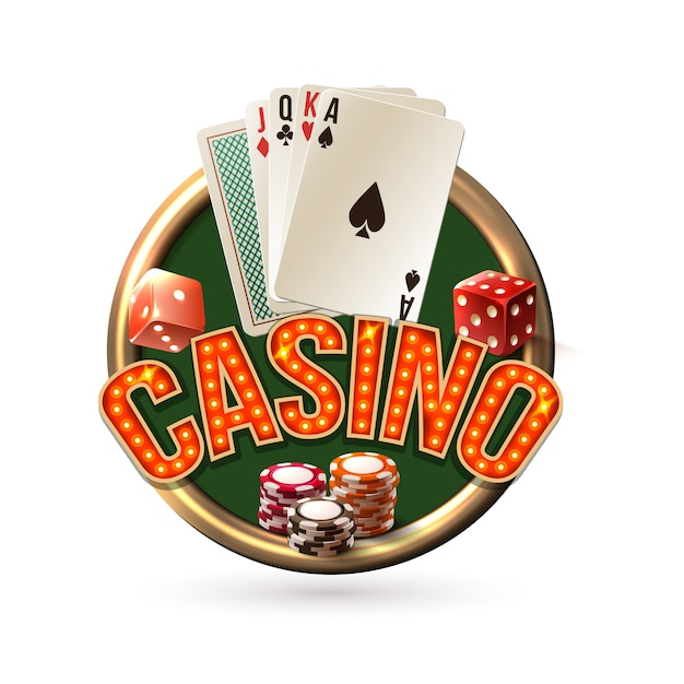 Pocker casino emblem Free Vector