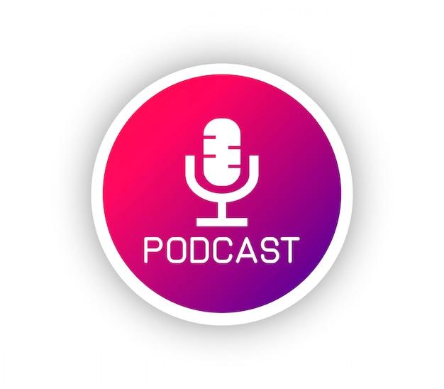 Podcastグラデーションロゴ Premiumベクター